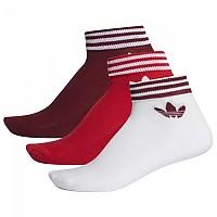 [해외]아디다스 ORIGINALS Trefoil Ankle Half Cushion 3 Pair Collegiate Burgundy / Scarlet / White