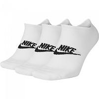 [해외]나이키 Sportswear Everyday Essential No Show 3 Pair White / Black