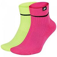 [해외]나이키 Sneaker Sox Ankle Hi Viz 2 Pair Multicolor