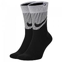 [해외]나이키 Sneaker Sox Crew Swoosh HBR 2 Pair Black / White / Black