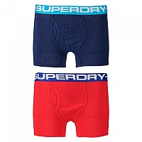 [해외]슈퍼드라이 Sport Boxer Double Pack Sonic Blast Blue / Yacht Club Red