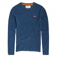 [해외]슈퍼드라이 Orange Label Textured Top Blue Grit Texture Jersey