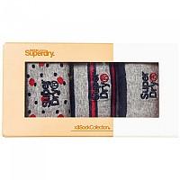 [해외]슈퍼드라이 Boxed City Triple Pack Grey / Red / Dk Navy Pattern