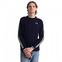 [해외]슈퍼드라이 Athletic Stripe Crew Dark Navy