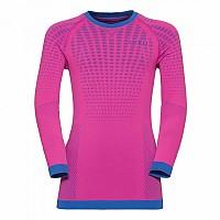 [해외]오들로 Evolution Warm Shirt L/S Crew Neck Pink Glo / Lapis Blue