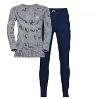 [해외]오들로 Set Warm Shirt L/S Pants Long Peacoat / Grey Melange