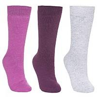 [해외]TRESPASS Alert 3Pr Winter Sock Purple Orchid / Potent Purple / Grey Marl