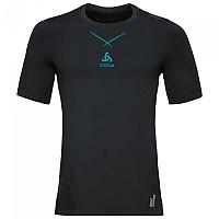 [해외]오들로 Ceramicool Seamless Shirt S/S Black / Lake Blue
