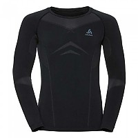 [해외]오들로 Evolution Light Shirt L/S Crew Neck Black / Odlo Graphite Grey