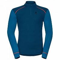 [해외]오들로 Warm Shirt L/S Turtle Neck 1/2 Zip Blue Opal / Mykonos Blue
