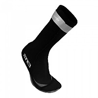 [해외]ZONE3 Neoprene Swim Socks Black / Reflective Silver