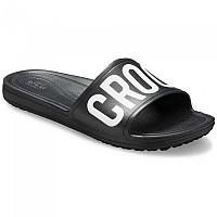 [해외]크록스 Sloane Logo Mania Slide Black