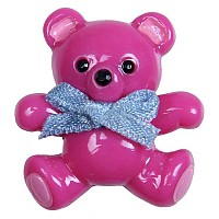 [해외]JIBBITZ 3D Teddy Bear Card Fuchsia