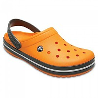[해외]크록스 Crocband Blazing Orange / Slate Grey