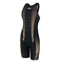 [해외]티어 AP12 Compression Open Back Speedsuit Black / Gold
