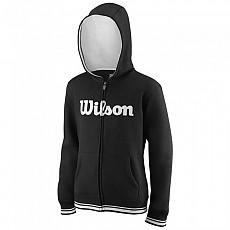[해외]윌슨 Team Script Full Zip Hooded Black / White