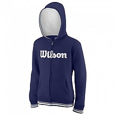 [해외]윌슨 Team Script Full Zip Hooded Blue Depths / White