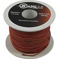 [해외]SIGALSUB Dyneema with External Cover 50 M Red / Green