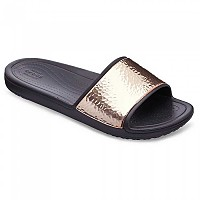 [해외]크록스 Sloane Hammered Met Slide Black / Rose Gold