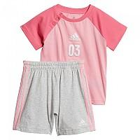 [해외]아디다스 Logo Summer Set Infant Light Pink / Semi Solar Pink / White