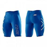 [해외]2XU Compression Short Royal Logo blue / silver