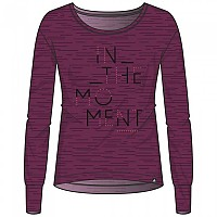 [해외]오들로 Helle T-Shirt L/S Pickled Beet Melange With Train Print