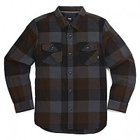 [해외]반스 Box Flannel Boys Black / Asphalt