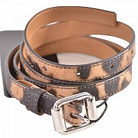 [해외]돌체앤가바나 Women Print Animal Belt Brown 2