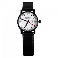 [해외]MONDAINE 에보 30 Big Date White / Black Leather