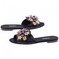 [해외]돌체앤가바나 Women Jewel Flat Slides Black