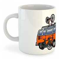 [해외]KRUSKIS Mug Hippie Van Bike White