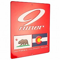 [해외]NINER Metal Shop Sign 12x14 cm Red