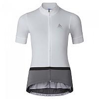 [해외]오들로 Fujin Stand Up Collar S/S Full Zip White / Odlo Steel Grey