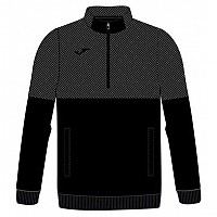 [해외]조마 Sweater Half Zip Dark Black Melange