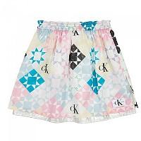 [해외]캘빈클라인 JEANS Skirt Begonia Pink / Bright White