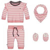 [해외]타미힐피거 KIDS Baby Rugby Stripe Giftpack Pink Icing
