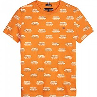 [해외]타미힐피거 KIDS All Over Print Logo Russet Orange
