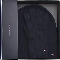 [해외]타미힐피거 SPORTSWEAR Flag Knit Beanie & Gloves Gp Navy
