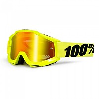 [해외]100% Goggle Accuri Fluo Yellow Mirror