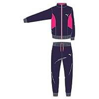 [해외]푸마 Active Better Graphic Poly Tricot Black / Fuchsia