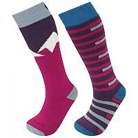 [해외]LORPEN T1 Merino Ski 2 Pair Pink / Blue