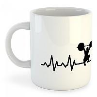 [해외]KRUSKIS Mug Fitness Heartbeat 325ml White