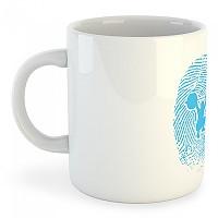 [해외]KRUSKIS Mug Fitness Fingerprint White