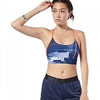 [해외]리복 Workout Ready Tri Back Printed Collegiate Navy