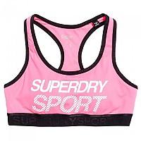 [해외]슈퍼드라이 Sport Essential Graphic Bra Pop Pink