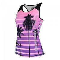 [해외]슈퍼드라이 Sport Fitted Mesh Vest Ombre Palm Print
