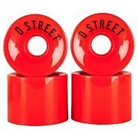 [해외]D STREET Wheels 4 Pack Red