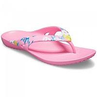 [해외]크록스 Kadee II Printed Flip Tropical Floral / Pink Lemonade