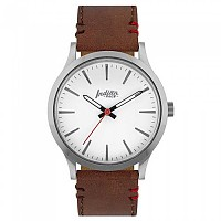[해외]THE INDIAN FACE Latitude Silver And White With Brown Strap