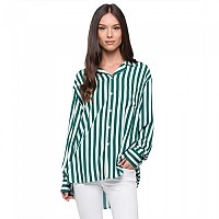 [해외]리플레이 All Over Stripes Viscose Tela Green / White